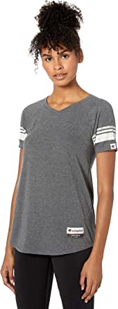 Champion Women's Authentic Originals Triblend Varsity Short Sleeve Tee