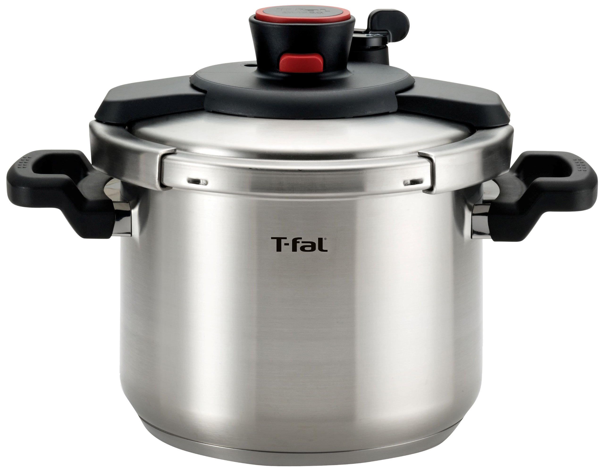 T-fal P45007 Clipso Stainless Steel Dishwasher Safe PTFE PFOA and Cadmium Free 12-PSI Pressure Cooker Cookware, 6.3-Quart, Silver by T-fal