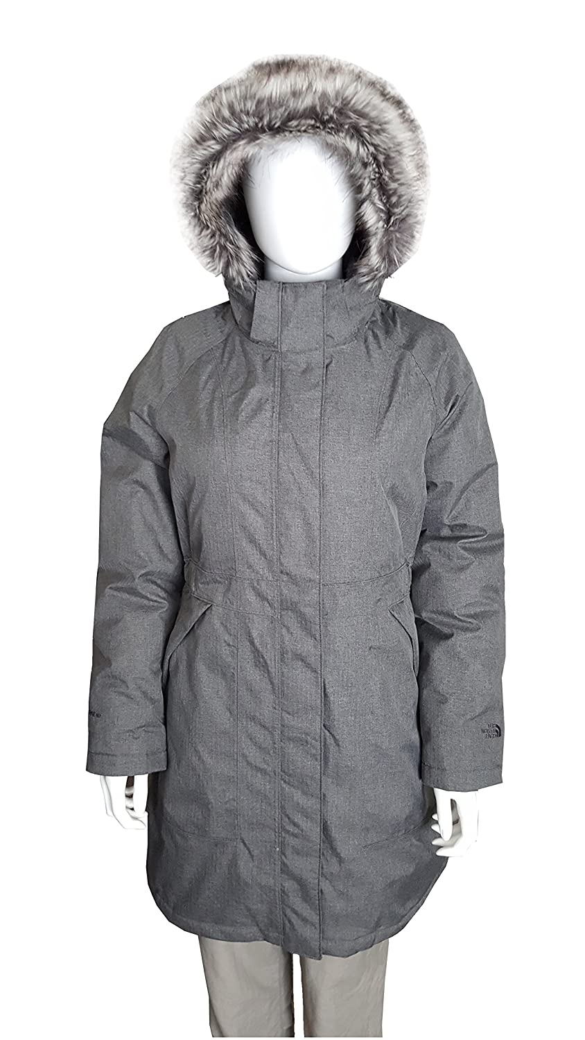 The North Face Arctic Parka レディース フード付き ロング ダウンコート B00PTUVW9Y X-Small|Graphite Grey Heather Graphite Grey Heather X-Small