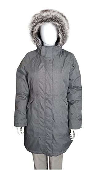 The North Face Parka Arctic para Mujer Chaqueta de Plumas, Color Gris Heather Gris Gris