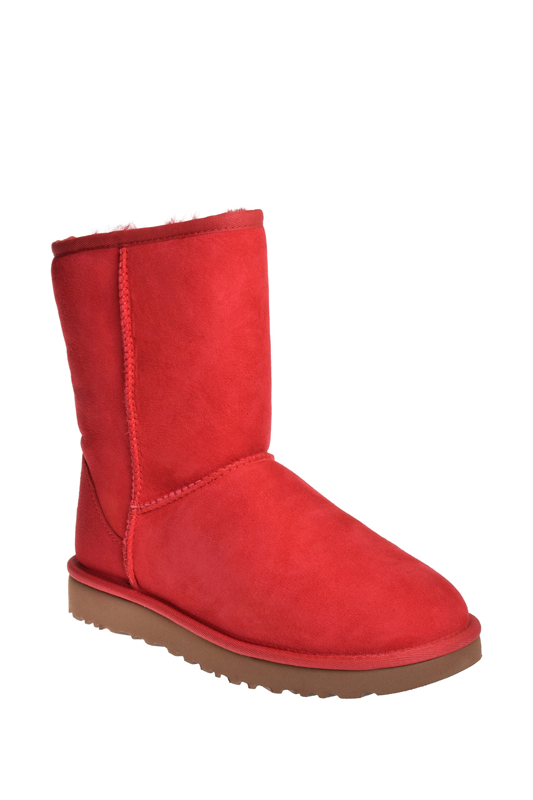 UGG Womens Classic Short II Winter Boot Ribbon Red Size 6