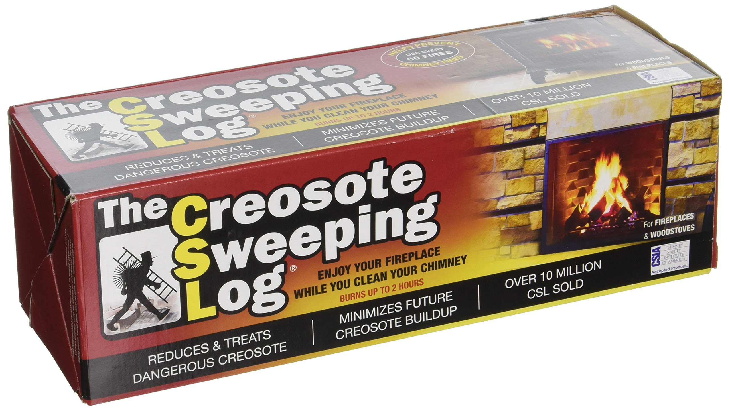 CSL Creosote Sweeping Log For Fireplaces,1 Pack