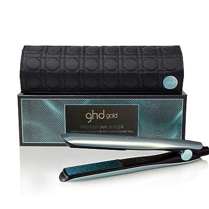 ghd gold glacial blue - Plancha de pelo profesional con neceser térmico a juego, edición limitada color azul hielo. Tecnología dual-zone patentada, ...