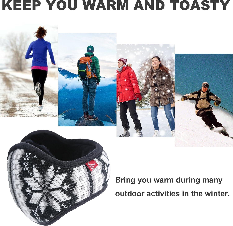 Winter Sport Female Skating Silhouette Winter Earmuffs Ear Warmers Faux Fur Foldable Plush Outdoor Gift