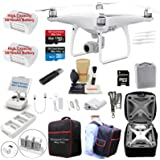 DJI Phantom 4 ADVANCED Drone Quadcopter Bundle Kit W/ 2 Batteries, 4K Professional Gimbal Camera and MUST HAVE Accessories