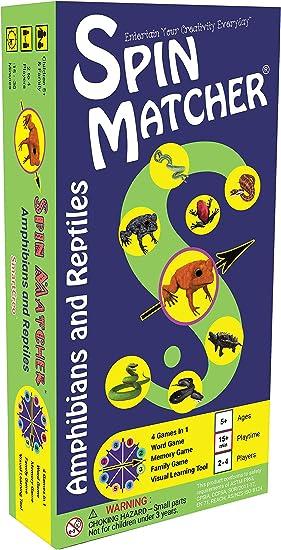 Juego de Mesa Familiar Educativo de Palabras y Memoria 4 en 1 Spin Matcher de SmartCreo: Amazon.es: Juguetes y juegos