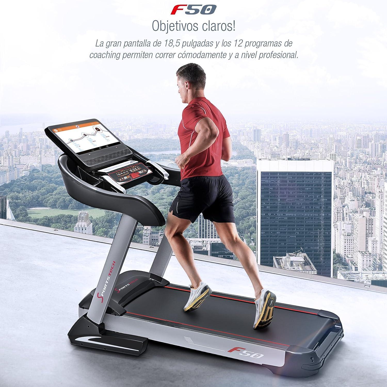 Sportstech Cinta de Correr Profesional F50 Gran Pantalla táctil LCD Android DE 18.5