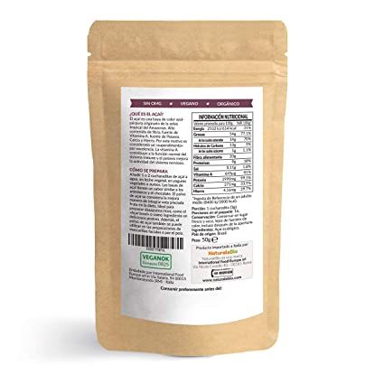 Bayas de Acai Orgánico en Polvo [Freeze - Dried] 50g. Pure ...