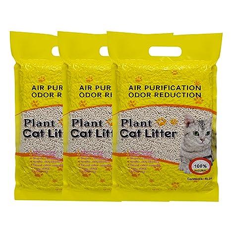 YCSJPET 18L Arena para Gatos de la Naturaleza, la Planta de Tofu Cat liteter fácil