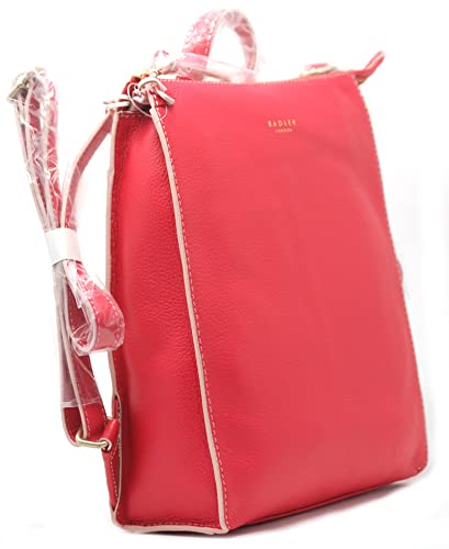 9b78bee28c Radley 'Bourton' Pink Leather Back Pack/Grab Bag: Amazon.co.uk ...