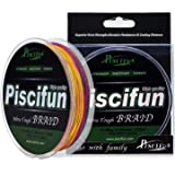 Piscifun Improved Braided Fishing Line 6lb-150lb Superline Abrasion Resistant Braid Lines 150yds 300yds 547yds Super Strong PE Fishing Lines