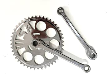 Bike Bicycle Crankset Chainset 46T 170mm For 1//8/'/' Chain Steel Single Speed