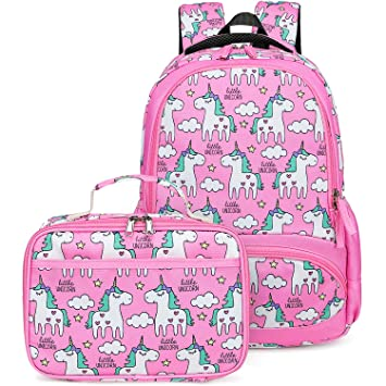 e7bd3273fa1 Backpack for Girls, CAMTOP Preschool Backpack with Lunch Box Toddler Kids  School Bag Set (Pink-2)