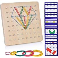 Ulikey Geoboard de Madera, Montessori Juguete Creativo Gráficos