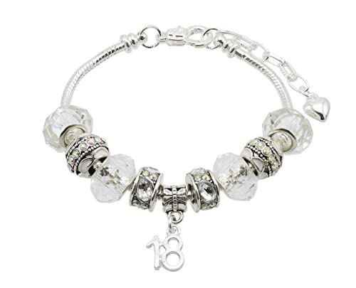 513b8a208 Women's 'Sparkle' Birthday Charm Bracelet with Gift Box - Ages Available  18th, 20th