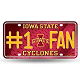 NCAA Iowa State Cyclones #1 Fan Metal License Plate Tag