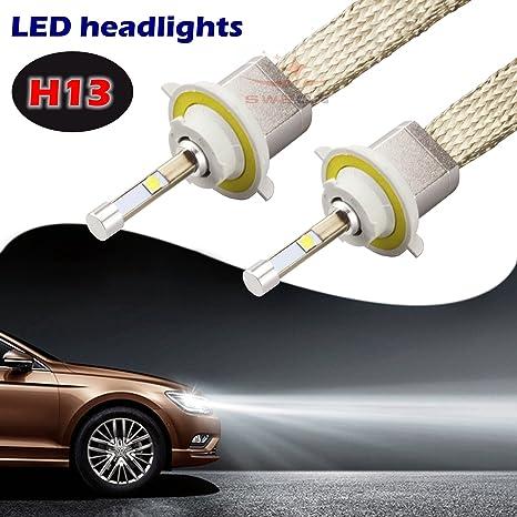 sweon 2pcs 80 W H13 aiboboa CREE bombillas LED para faros de coche Kit de conversión