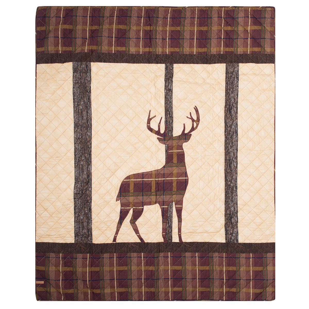 Donna Sharp Brown Antler Woods Quilted Throw by Donna Sharp (Image #1)