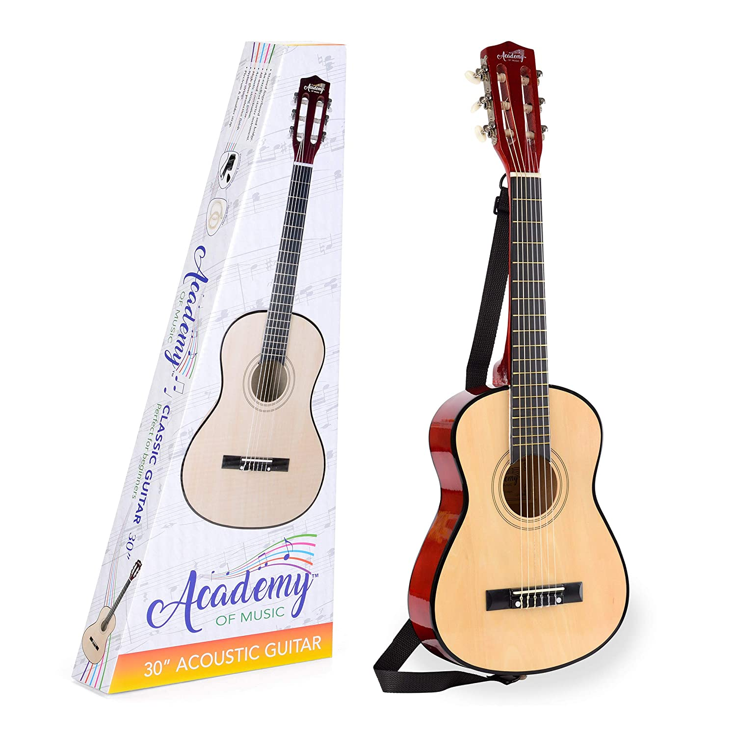 Academy of Music Acoustic Guitar for Kids - 30 Inch Toyrific TY5904