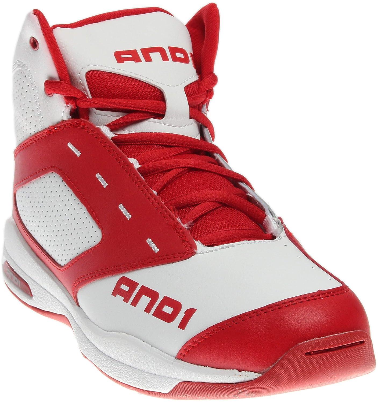 [アンドワン] バスケットシューズ メンズ 1090MWB B0125HI3ZE Bright White/F1 Red/Bright White 12.0(300)(30cm) 2E