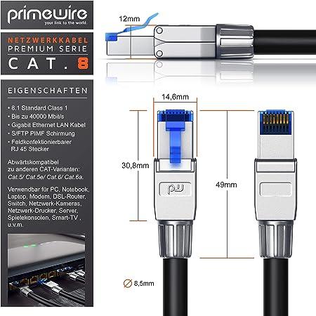 Csl 0 25m Cat 8 Netzwerkkabel 8 1 Standard Class Elektronik