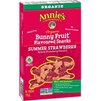 Annie's Homegrown Organic Summer Strawberry Bunny Fruit Snacks, 5-Count, 115 Grams