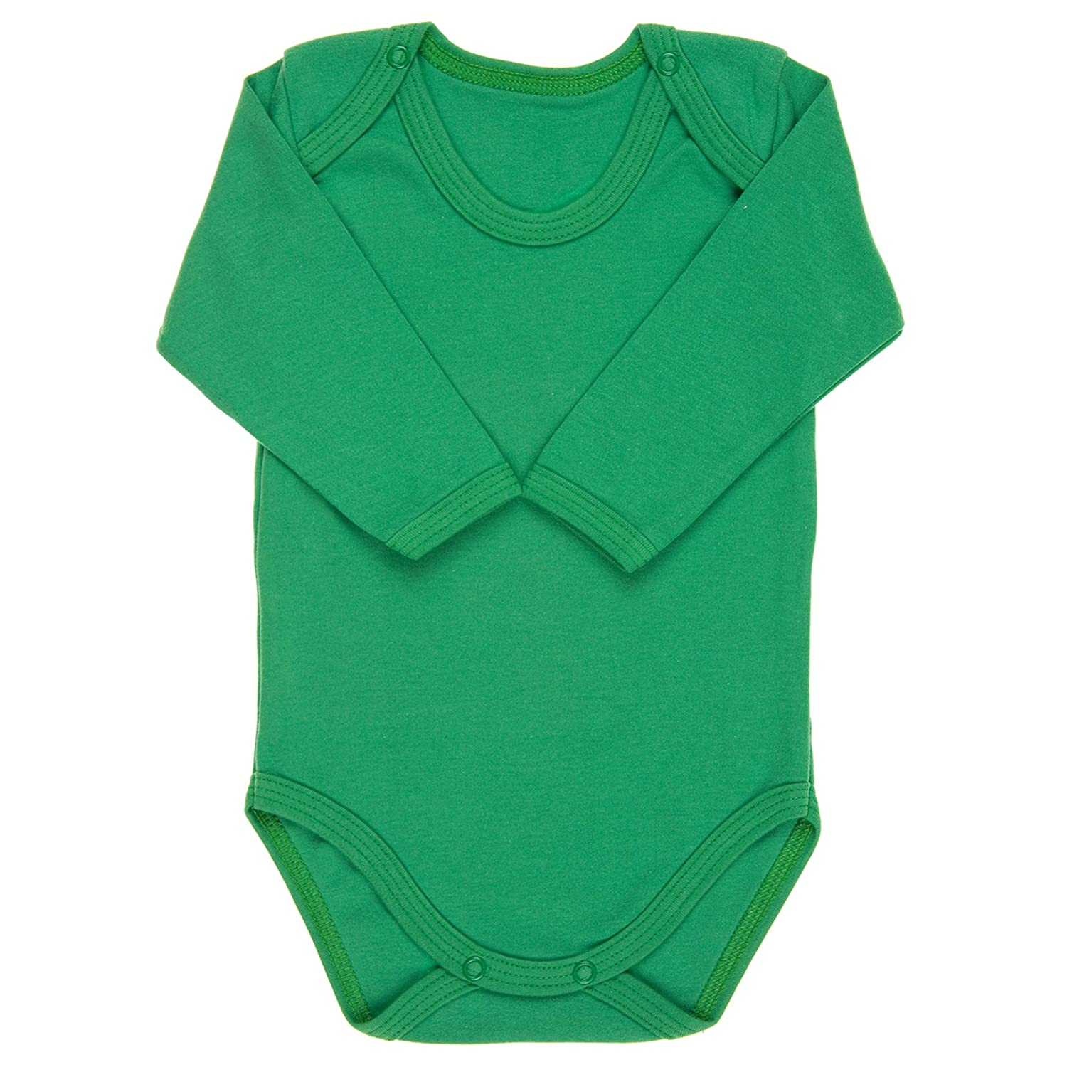 3cfc81f5fd6 The Little Legwear Company Bodysuit Vests Long Sleeved Baby Girls Boys  Plain Colours 100% Cotton Jersey  Amazon.co.uk  Clothing