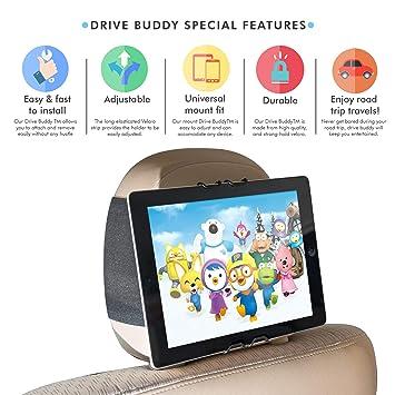 BABY 1ST Universal Tablet Reposacabezas de Asiento de Coche/Soporte/Soporte/Soporte para iPad Mini|iPhone| Kindle Fire| Samsung Galaxy| Nexus| LG| Huawei| ...
