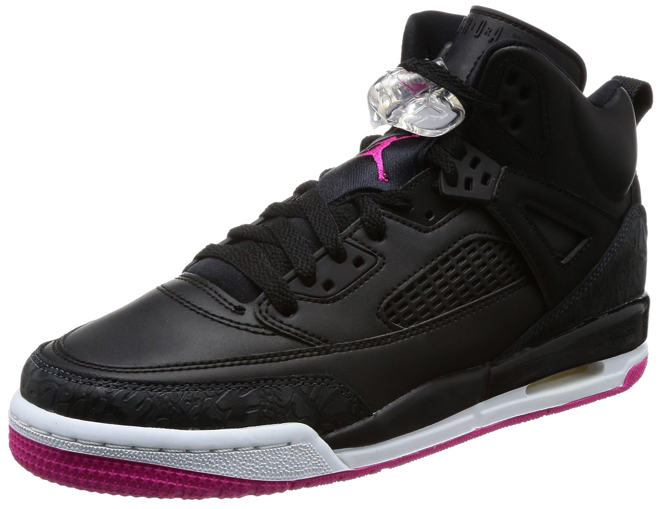 Jordan Nike Kids Spizike GG Black/Deadly Pink Anthracite Basketball Shoe 6 Kids US