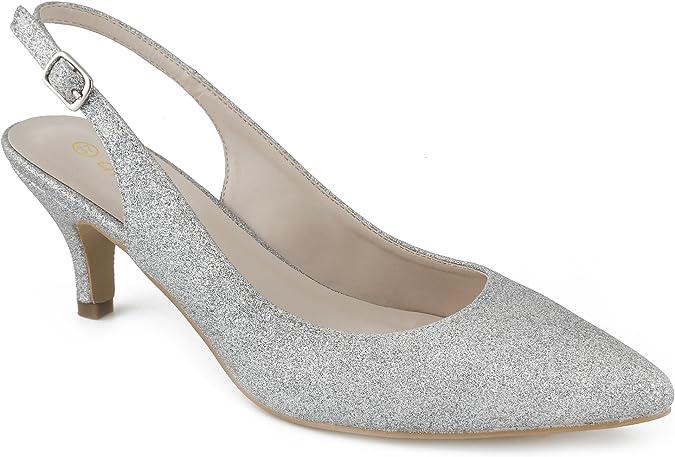 TALLA 39 EU. Greatonu Zapatos de Tacón Clásicos Espigones con Hebillas y Tiras en la Parte Trasera para Mujer 36-41 EU