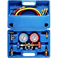 $35 » OrionMotorTech 3 Way AC Diagnostic Manifold Gauge Set for Freon Charging, Fits R134A R12…