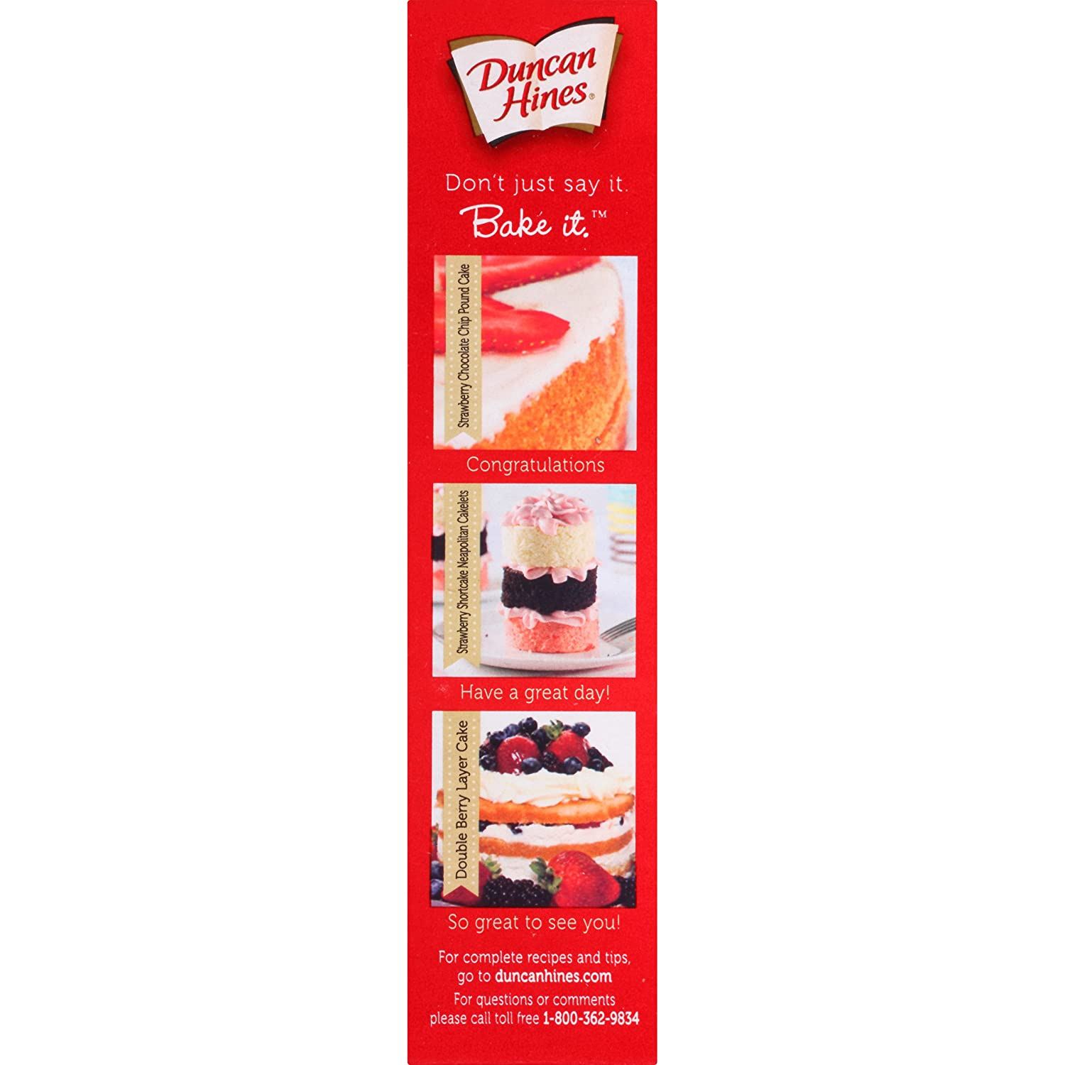 Duncan Hines - Strawberry cake mix 517 g: Amazon.es: Alimentación y bebidas
