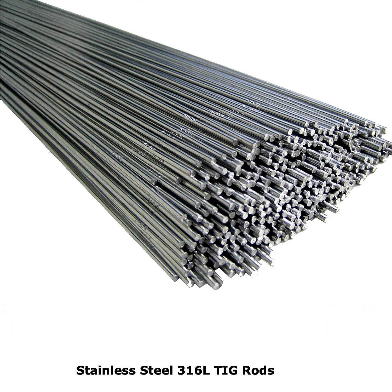 3,2 mm 1,0 mm 1,6 mm Elettrodi per saldatura TIG in acciaio inox 316L 2,0 mm BMF DIRECT/® 2,4 mm 1,2 mm