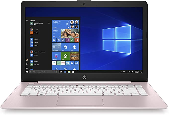 HP Stream 14-Inch Laptop, Intel Celeron N4000, 4 GB RAM, 64 GB eMMC, Windows 10 Home in S Mode With Office 365 Personal For 1 Year (14-cb188nr, Rose Pink) | Amazon