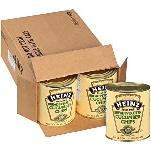 Heinz Bread 'N' Butter Cucumber Chips (3 oz Cans, Pack of 6)