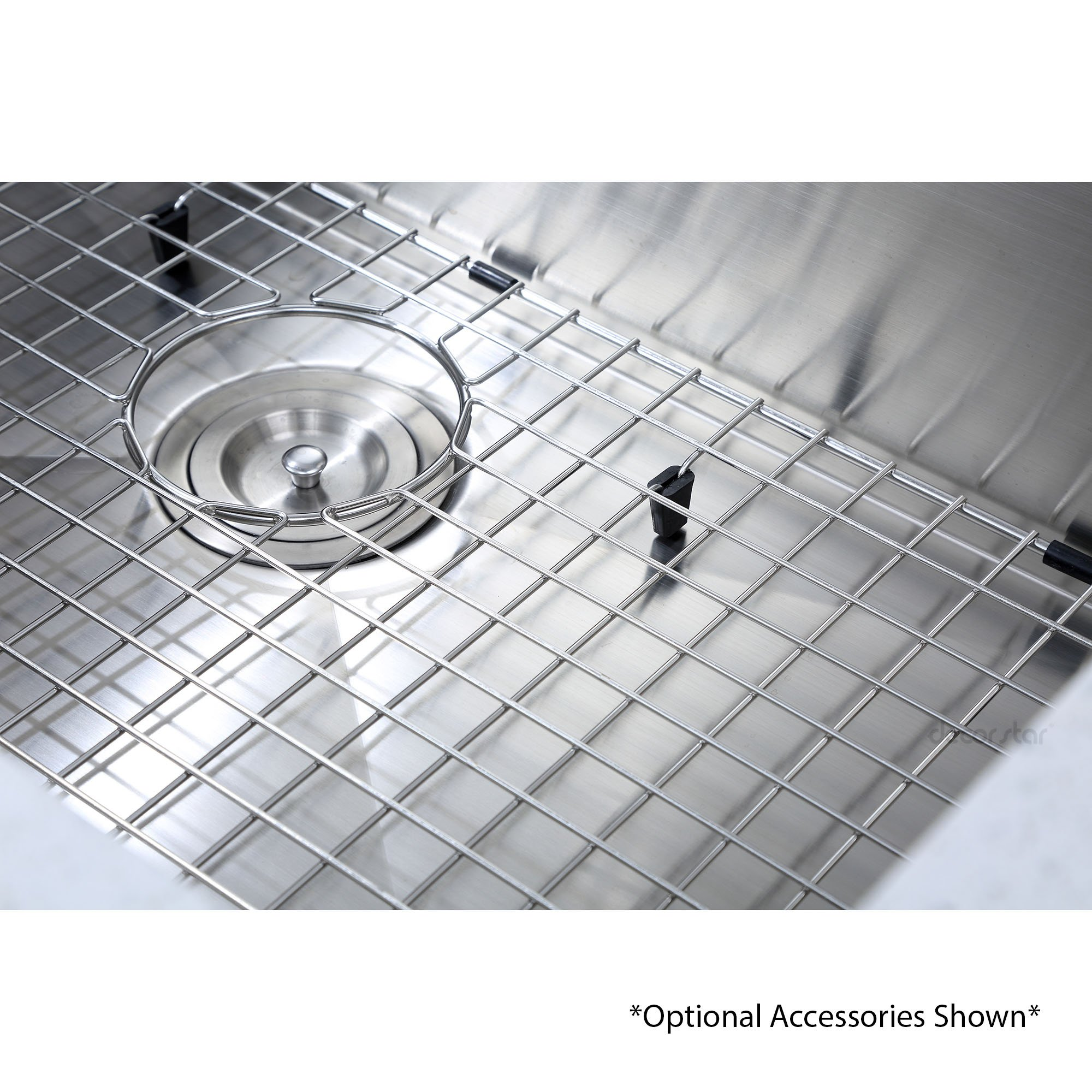 Decor Star H-001-Z 32 Inch x 19 Inch Undermount Single Bowl 16 Gauge Stainless Steel Luxury Handmade Kitchen Sink cUPC Zero Radius by Decor Star (Image #5)