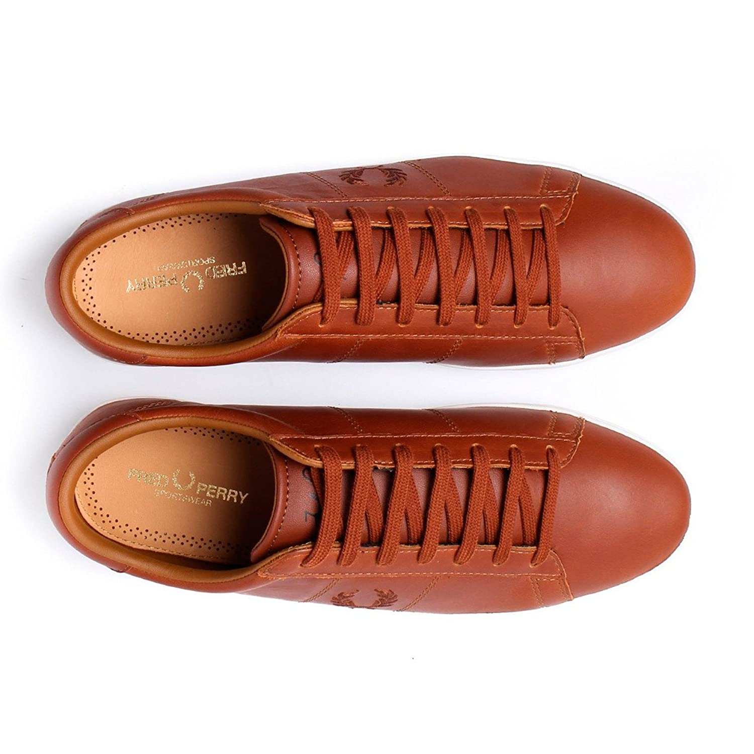 Fred Perry Sneakers for Men Cuir Marron. Spencer Leather Tan. Sneaker (45 EU,  Leather Tan)  Amazon.fr  Chaussures et Sacs 96783d8cbf12
