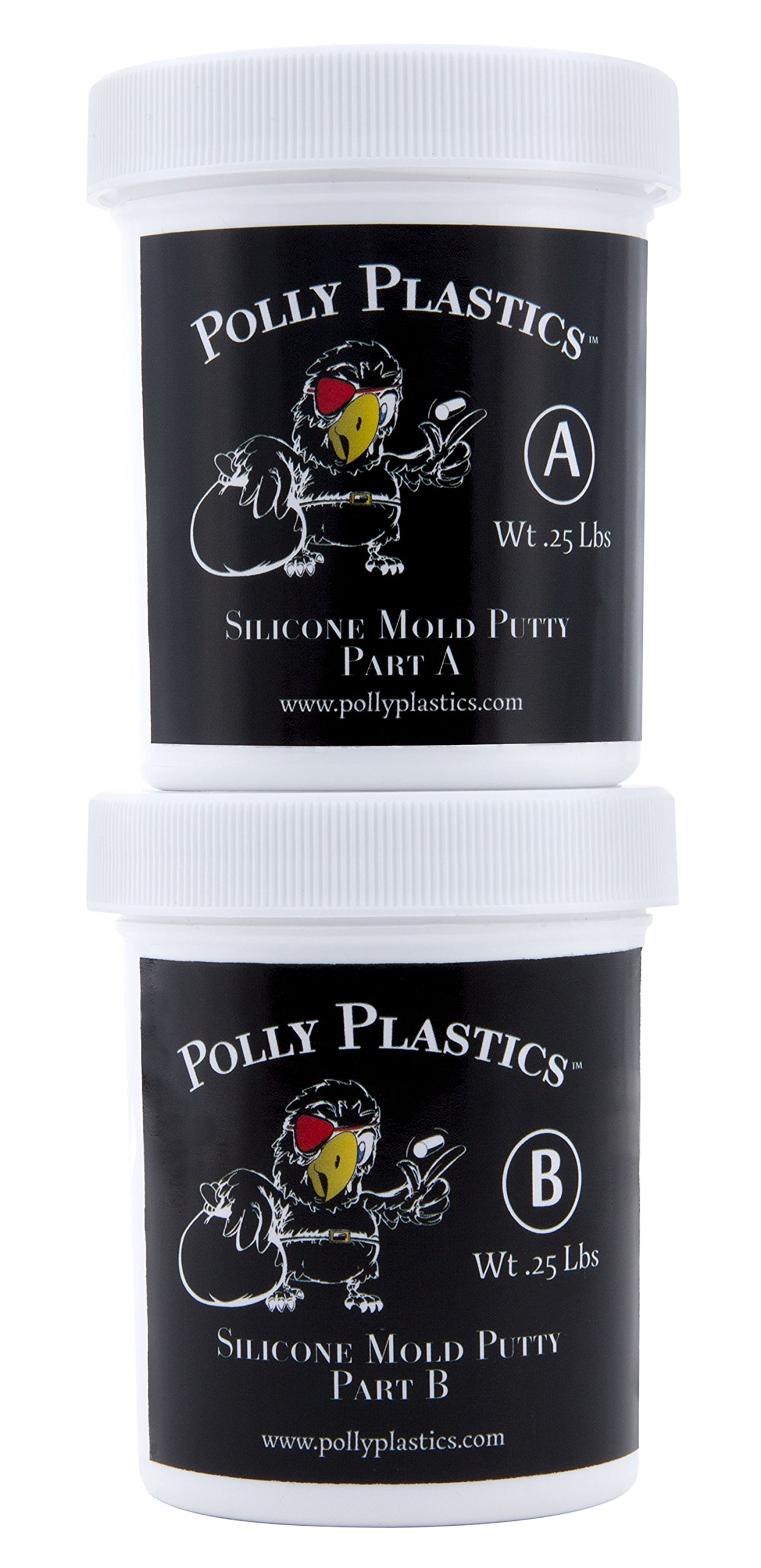 Polly Plastics Silicone Molding Putty - 1/2 Lb - for Moldable Plastic Pellets