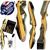 """Southwest Archery Spyder Takedown Recurve Bow – Compact Fast Accurate 62"""" Hunting & Target Bow – Right & Left Hand…"""