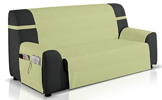 Cubre sofá Gea, 3 plazas (160 cm), Color Verde