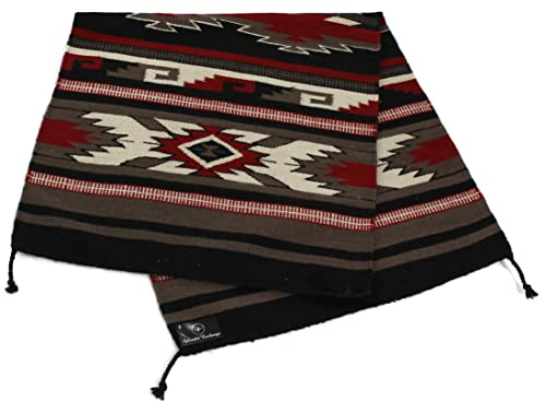 Splendid Exchange Hand Woven Wool Southwest Area Rug, 2.7 by 5.3 foot, Western Red, White and Black