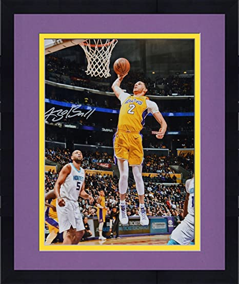 fed42e1fb0e Framed Lonzo Ball Los Angeles Lakers Autographed 16 quot  x 20 quot   Jumping Photograph - Fanatics