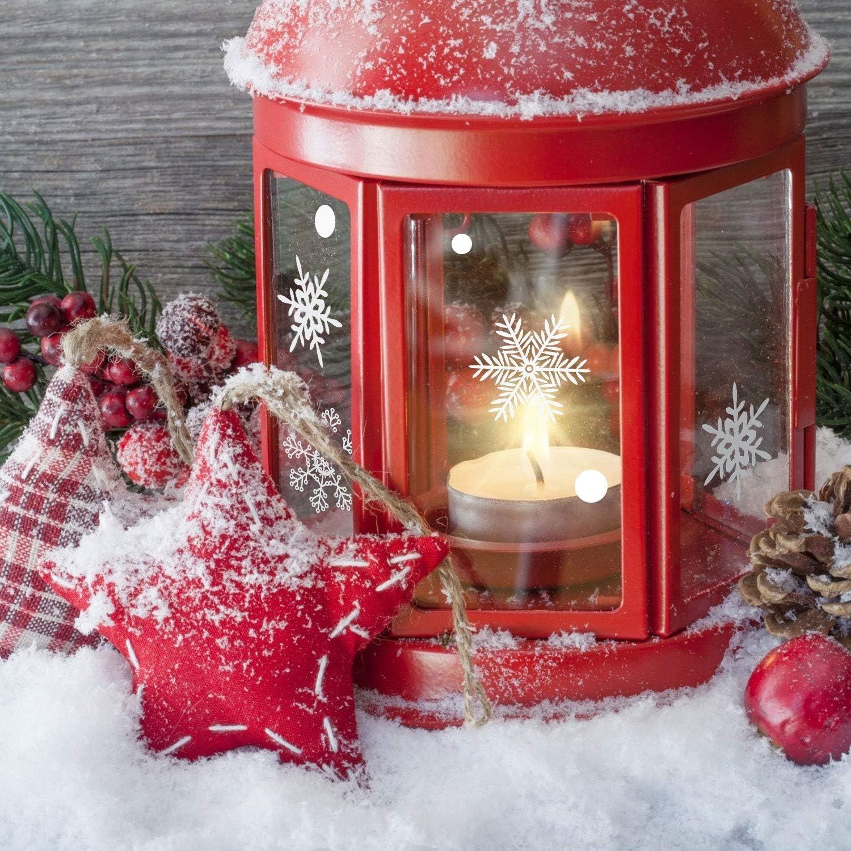 Simpeak Christmas Snowflake Window Sticker 120Pcs Christmas Decorations Wall Stickers New Year Supplies