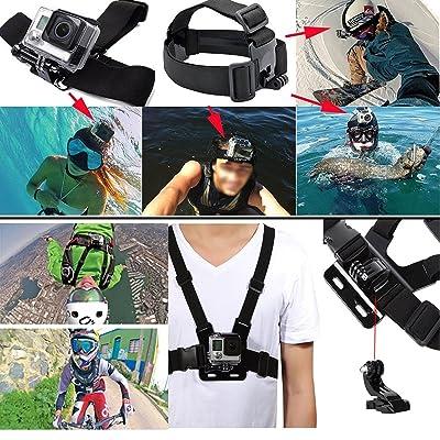 44-in-1Caméra de sport kit d'accessoires pour GoPro Hero 4/3/3+/SJ4000/SJ5000/SJCAM/Xiaoyi