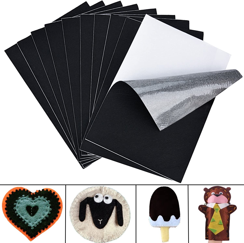 10PCS Felt Sheets DIY Sticky Back Sheets Self Adhesive Furniture Feet Pads