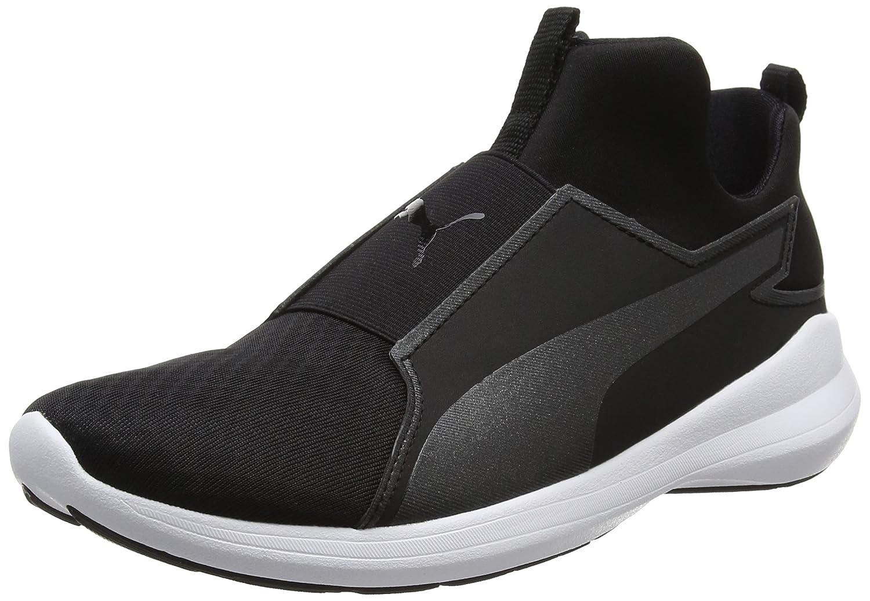 Puma Rebel Mid Wns, Zapatillas para Mujer 37.5 EU|Negro (Black-black-white)