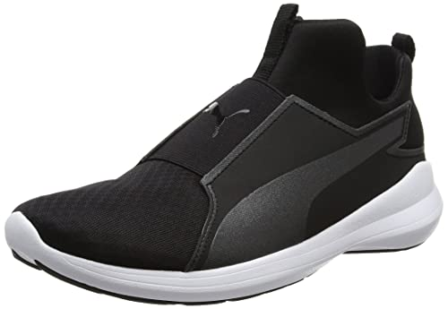 Nero 40.5 EU PUMA REBEL MID SNEAKER A COLLO ALTO DONNA BLACK BLACK WHITE