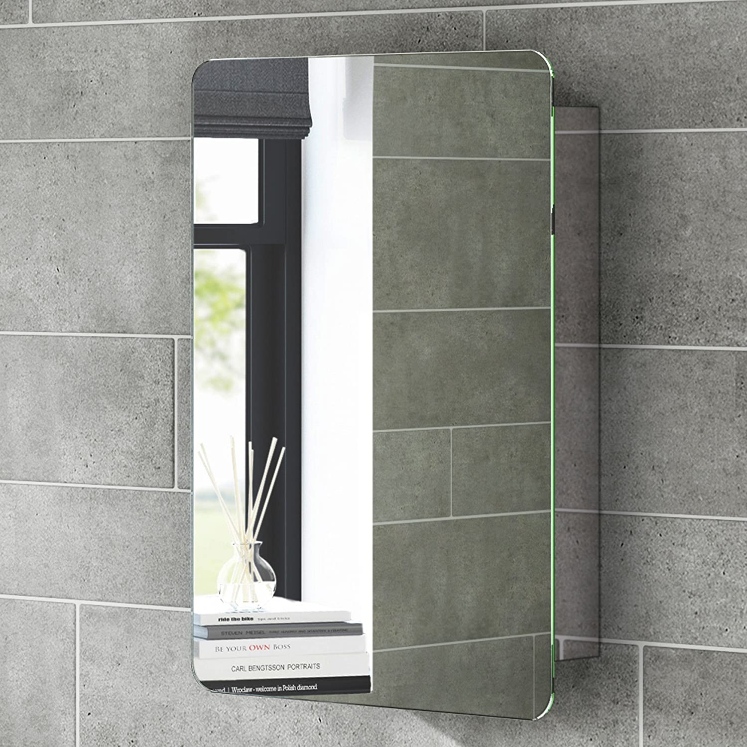 Mirrored Bathroom Cabinets Uk Gedy Space Saving Stainless Steel Bathroom Cabinet With Sliding