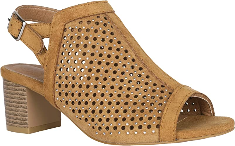 Fashion Women Hollow Cut Out Peep Toe Mid Heel Sandals Zipper Casual Dress Shoes