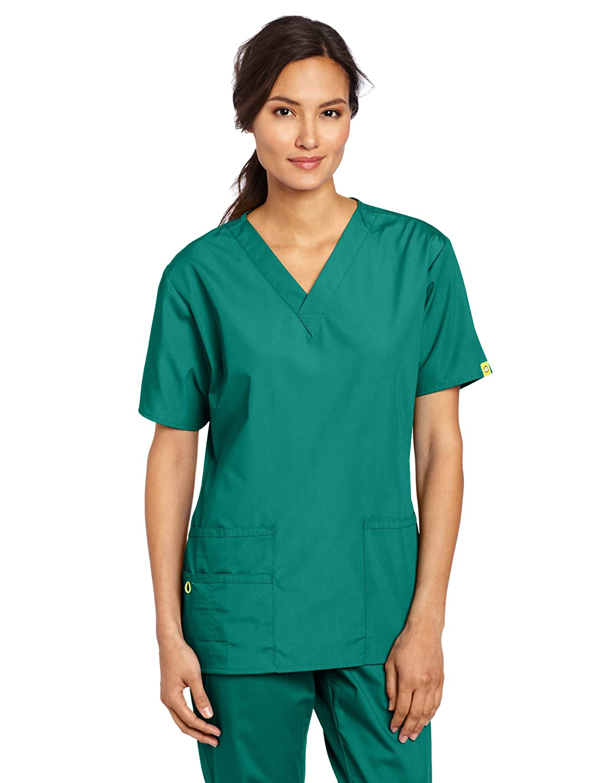 WONDERWINK Women's Scrubs Bravo 5 Pocket V-Neck Top WonderWink Women Scrubs 6016A